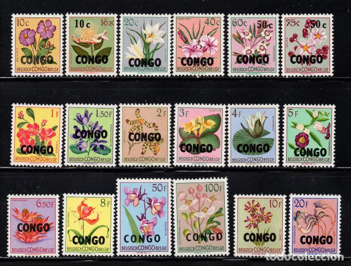 CONGO KINSHASA 382/99** - AÑO 1960 - FLORA - FLORES (Sellos - Temáticas - Flora)