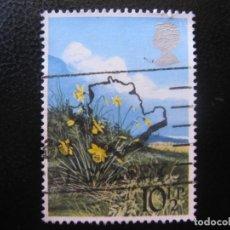 Sellos: -INGLATERRA 1979, FLORES DE PRIMAVERA, NARCISOS. Lote 185123973