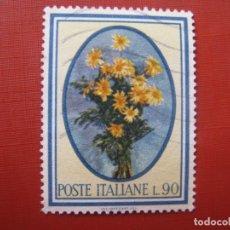 Sellos: -ITALIA, TEMA FLORA, SELLO USADO. Lote 186299510