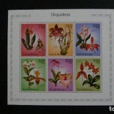 Sellos: ORQUIDEAS-GUINEA BISSAU-2010-MINIPLIEGO(SERIE COMPLETA) EN NUEVO**(MNH). Lote 189236896