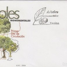 Sellos: EDIFIL 4063, ARBOLES MONUMENTALES: LA TERRONA EN MONTANCHEZ (CÁCERES), PRIMER DIA 6-2-2004. Lote 191507323