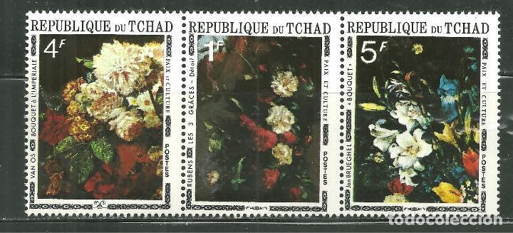 TCHAD 1971 *** PINTURA - CUADROS DE FLORES (Sellos - Temáticas - Flora)
