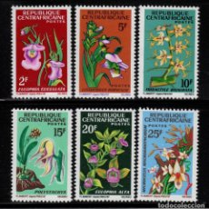 Sellos: CENTROAFRICA 69/74** - AÑO 1966 - FLORA - FLORES. Lote 191713963