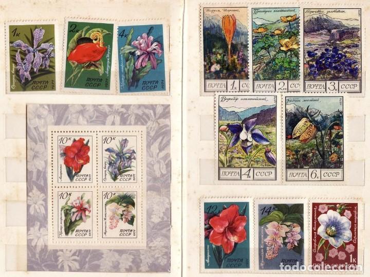 FLORES RUSIA 33 SELLOS (Sellos - Temáticas - Flora)