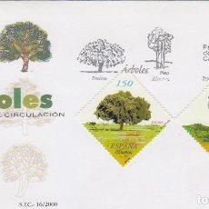Sellos: EDIFIL 3717/8, ARBOLES: ENCINA Y PINO, PRIMER DIA DE 19-6-2000 SFC. Lote 192358332