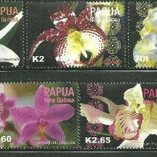 Sellos: PAPUA Y NUEVA GUINEA 2004 IVERT 981/86 *** FLORA - ORQUIDEAS. Lote 193924532