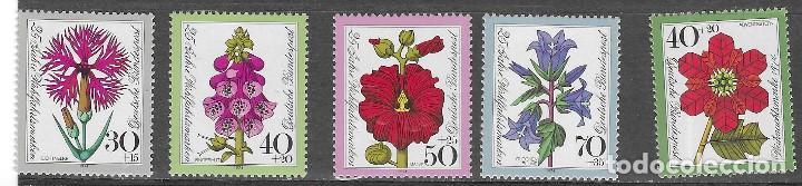 ALEMANIA FEDERAL Nº 667 AL 671 (**) (Sellos - Temáticas - Flora)