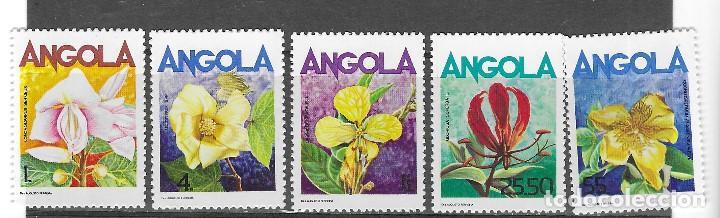 ANGOLA Nº 699 AL 703 (**) (Sellos - Temáticas - Flora)