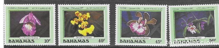 BAHAMA Nº 651 AL 654 (**) (Sellos - Temáticas - Flora)