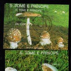 Sellos: SANTO TOME HB 116/17 - AÑO 1992 - FLORA - SETAS. Lote 194602465