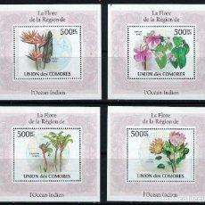 Sellos: COMORES 2009 HB IVERT 1959/62 *** FLORA - PLANTAS DEL OCEANO INDICO. Lote 195376456