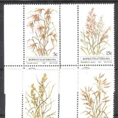 Sellos: BOPHUTHATSWANA (REP. SUDAFRICANA) Nº 80/83** PLANTAS SERIE I. SERIE COMPLETA. Lote 195410423
