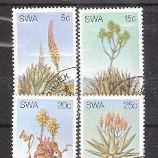 Sellos: SUDOESTE AFRICANO (SWA) Nº 461/464º FLORA. ALÓES. SERIE COMPLETA. Lote 195414846