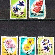 Sellos: RUMANIA Nº 3274, FLORES, USADO SERIE CORTA). Lote 199058351