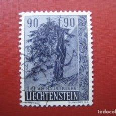 Sellos: LIECHTENSTEIN 1958, ARBOLES Y ARBUSTOS, YVERT 335. Lote 199144621