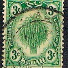 Sellos: KEDAH (MALASIA Nº 48, PALMERA, USADO. Lote 199144706