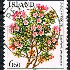 Sellos: ISLANDIA Nº 620, AZALEA, USADO. Lote 199146582