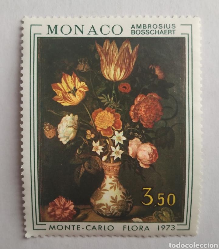 SELLO 916 MÓNACO FLORES MONTE CARLO FLORA AÑO 1973 NUEVO (Sellos - Temáticas - Flora)