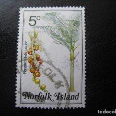 Timbres: -NORFOLK ISLAND,SELLO USADO TEMA FLORA. Lote 202420511