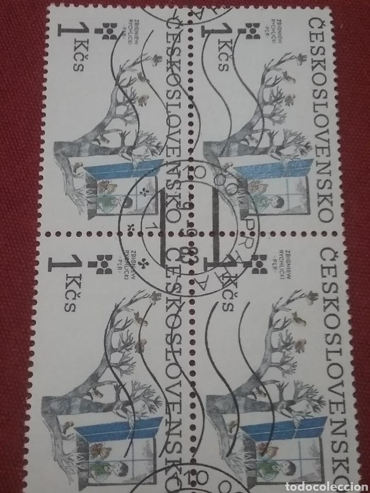 SELLOS R. CHECOSLOVAQUIA MTDOS/1983/ILUSTARCION/CUENTOS/INFANCIA/JOVENES/AVES/ARBOL/PAJARO/FAUNA/FLO (Sellos - Temáticas - Flora)