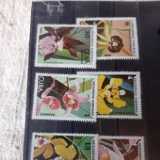 Sellos: CUBA FLORES SERIE COMPLETA NUEVA MANCHITAS 2191/96. Lote 205380416