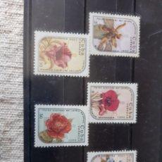 Sellos: CUBA SERIE COMPLETA NUEVA FLORES 1986 EDIFIL 2668/73. Lote 205393888