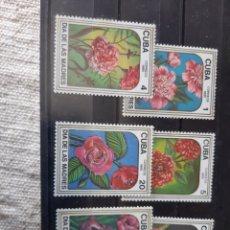 Sellos: CUBA FLIRES DIA MADRE SERIE COMPLETA NUEVA 2625/39 AÑO 1985. Lote 205395841