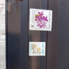 Sellos: FLORES SERIES COSTA RICA 1989 Y BRASIL. Lote 205760742