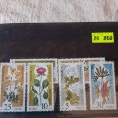 Sellos: 1969 BULGARIA SERIE COMPLETA NUEVA FLORES. Lote 205762986