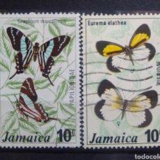 Sellos: JAMAICA MARIPOSAS SERIE DE SELLOS USADOS. Lote 206973776
