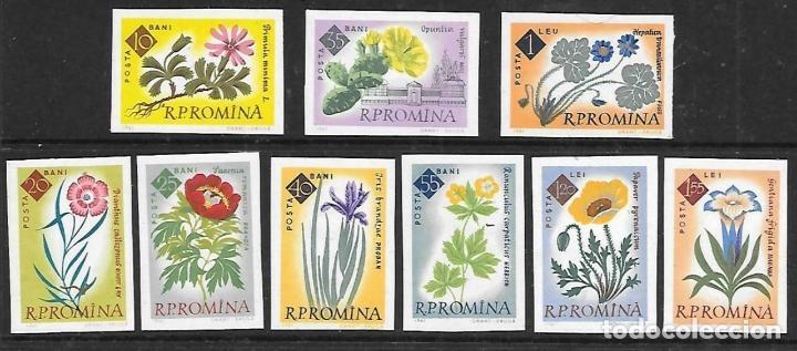 RUMANIA 1961 IVERT 1818/26 *** (SIN DENTAR) CENTENARIO JARDIN BOTÁNICO DE BUCAREST - FLORES - FLORA (Sellos - Temáticas - Flora)