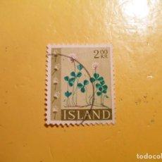 Sellos: ISLANDIA - FLORA - FLOR DE CAMPO CON PISTILOS.. Lote 207002760