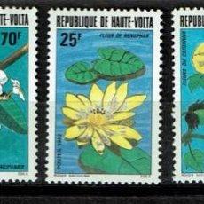 Sellos: SERIE REPUBLICA DE HAUTE-VOLTA NUEVOS SIN CHARNELA FLORA.. Lote 208308438