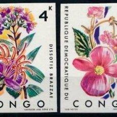 Sellos: REP. DEMOCRATICA DEL CONGO 1971 IVERT 778/81 *** FLORA - FLORES DIVERSAS. Lote 208571173