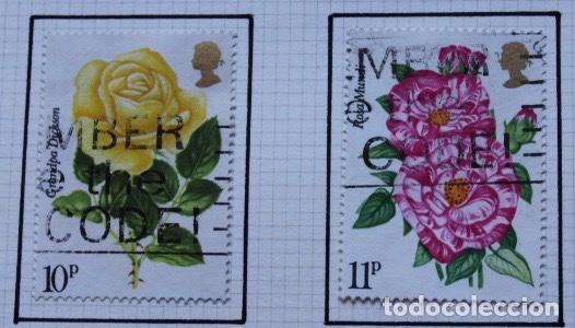Sellos: Lote de 14 sellos de rosas diferentes países entre 1974 1983 - Foto 5 - 140172658