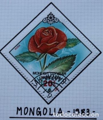 Sellos: Lote de 14 sellos de rosas diferentes países entre 1974 1983 - Foto 8 - 140172658