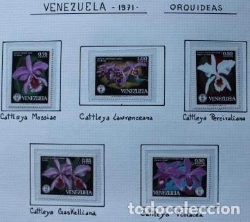 5 SELLOS NUEVOS DE ORQUÍDEAS DE VENEZUELA AÑO 1971 (Sellos - Temáticas - Flora)