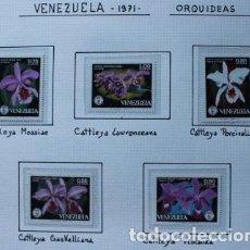 Sellos: 5 SELLOS NUEVOS DE ORQUÍDEAS DE VENEZUELA AÑO 1971. Lote 140173050