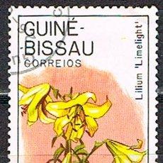 Sellos: GUINEA-BISSAU Nº 703, HORTENSIA DE PANICULAS, USADO. Lote 210962102