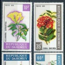 Sellos: DAHOMEY 1975 IVERT 360/3 *** FLORA - FLORES DIVERSAS. Lote 211959253