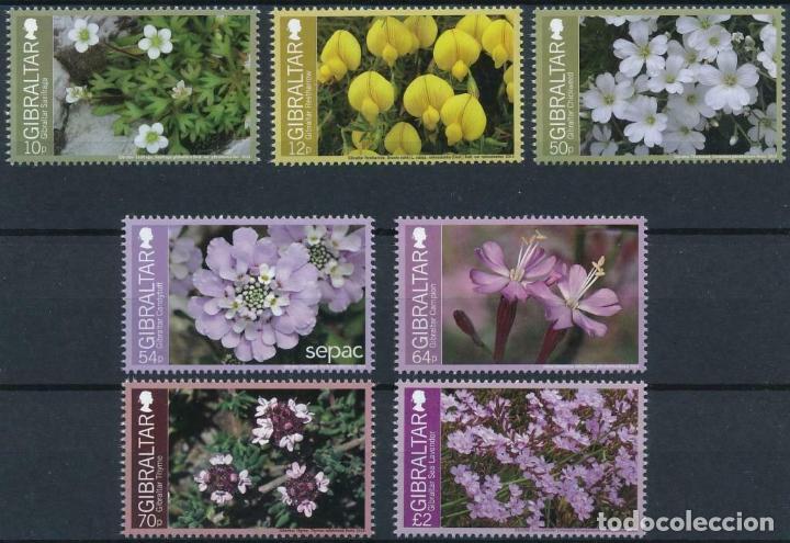 GIBRALTAR 2014 MICHEL 1630/36 *** FLORA - FLORES ENDÉMICAS (Sellos - Temáticas - Flora)