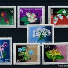 Sellos: ALBANIA 1974 IVERT 1511/7 *** FLORA - PLANTAS MEDICINALES. Lote 212702472