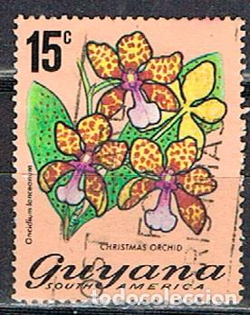 GUYANA Nº 162, ORQUIDEA DE NAVIDAD, USADO (Sellos - Temáticas - Flora)