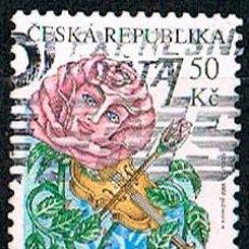 Sellos: REPUBLICA CHECA Nº 471, ROSA TOCANDO EL VIOLIN, USADO. Lote 214261568