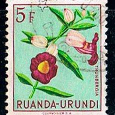 Sellos: RUANDA URUNDI Nº 143, THUNBERGIA, USADO. Lote 214925513