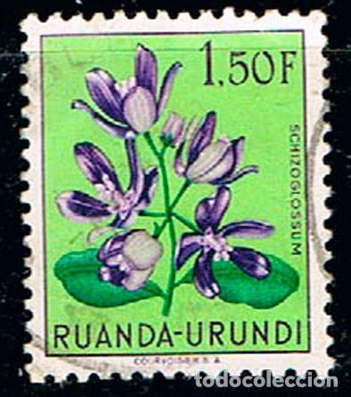 RUANDA URUNDI Nº 1139 SCHIZOGLOSSUM, USADO (Sellos - Temáticas - Flora)