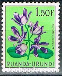 RUANDA URUNDI Nº 139 SCHIZOGLOSSUM, NUEVO CON SEÑAL DE CHARNELA (Sellos - Temáticas - Flora)