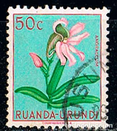 RUANDA URUNDI Nº 134, ANGRAECUM, USADO (Sellos - Temáticas - Flora)