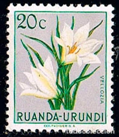 RUANDA URUNDI Nº 131 VELLOZIA, NUEVO CON SEÑAL DE CHARNELA (Sellos - Temáticas - Flora)
