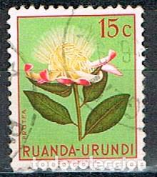 RUANDA URUNDI Nº 130, PROTEA , USADO (Sellos - Temáticas - Flora)